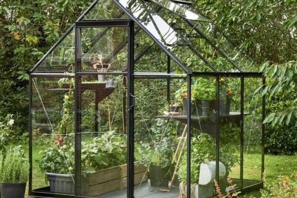 Tuinkasgemak kweken en oogsten veiligheidsglas